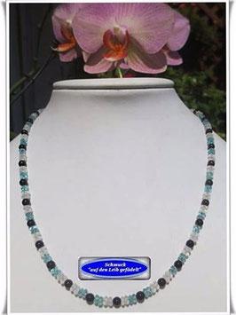 1340. Apatit-Onyx-Bergkristall-Kette