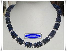 1598. Lapislazuli-Bergkristall-Collier