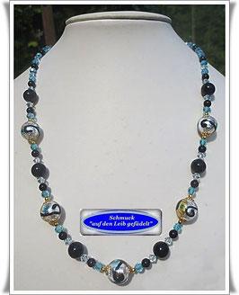 1445. sommerliche Muranoglas-Perlenkette
