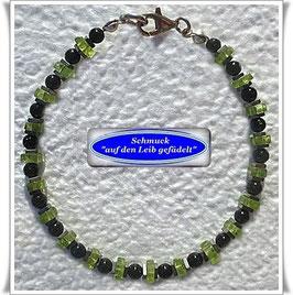 229) Peridot-Grünfluss-Armband