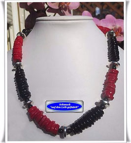 1205. rote Korallen-Onyx-Kette