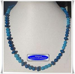 1537. blaue Marmorperlen-Kette