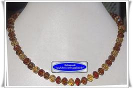 425. braunfarbene Kristallglaskette