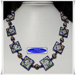 1875. schicke blaue Cloisonne-Kette