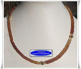 1579. zierliches Hessonit Granat-Collier