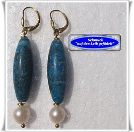 808. türkis-blaue Jaspis-Ohrringe