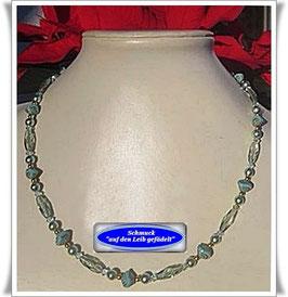 1160. hellgrüne Glasperlenkette