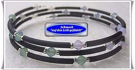 125) Memory Wire-Armband mit Kristallglas-Biconen TS