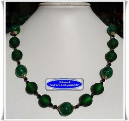 1936. smaragdfarbenes Muranoglas-Perlen-Collier