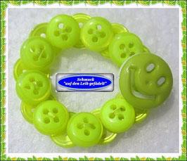 22) Haarband aus Knöpfen mit einem Smiley TS