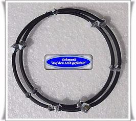 17) Memory Wire-Armband mit Swarovski-Biconen TS