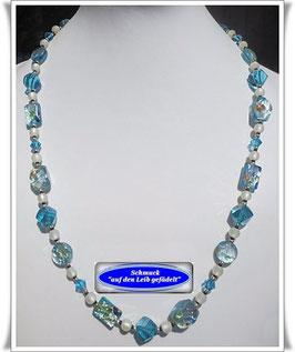 784. türkisfarbene Glasperlenkette