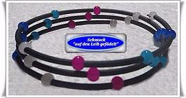 127) Memory Wire-Armbänder mit bunten Glasperlen TS