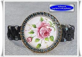 49) Armband mit Glaskuppel-Kopf