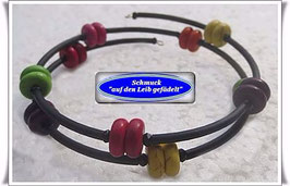 135) Memory Wire-Armband mit buntem Türkisstein TS