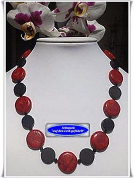 1271. Koralle-Onyx-Kette Set