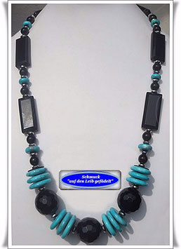 820. Onyx-Howlith-Kette Set