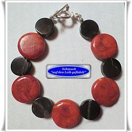 223) Korallen-Onyx-Armband