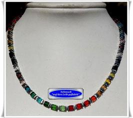 1865. bunte Kristallglas-Würfelkette