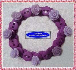 46) hübsches Kinderarmband mit Rosenknöpfen TS
