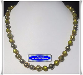 831. grüne Muranoglas-Perlenkette