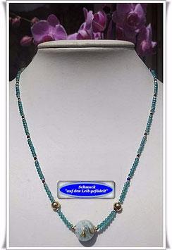 1054. Glasperlenkette mit Muranoglas-Perle