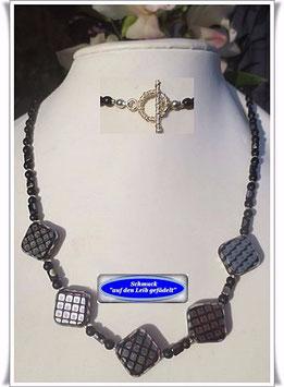 1141. silber-bunte Glasperlenkette
