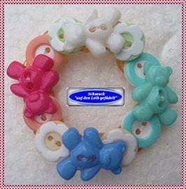 36) Süßes Teddy-Armband aus Knöpfen TS