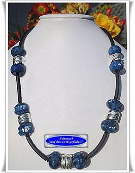 378. blaue Achat-Kette