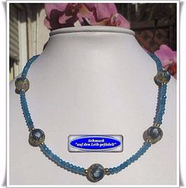 1185. Achat-Kette mit Tensha-Perlen