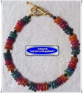 196) buntes Muschelscheiben-Armband