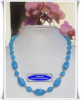 1176. elegantes Muranoglasperlen-Collier  Set