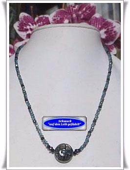 1139) Kette mit Abalone Shell-Mosaik-Perle