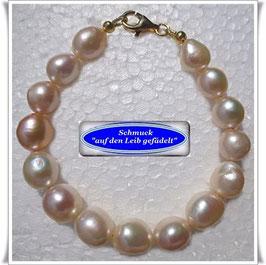 207) Süßwasser-Zuchtperlen-Armband