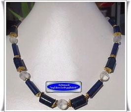 439. Lapislazuli-Bergkristall-Collier Set