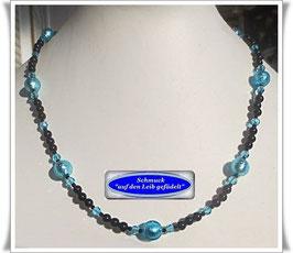1518. Onyx-Spinell-Kette mit Muranoglas-Perlen