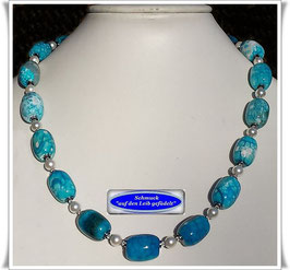 1908. türkis-blaue Quarz-Kette