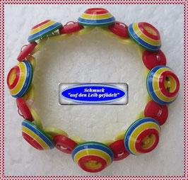58) buntes Armband aus Knöpfen TS