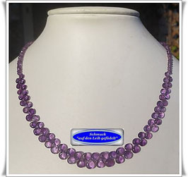 1378. edles Amethyst-Collier Set