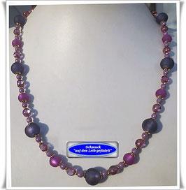 915. fliederfarbene Muranoglas-Perlenkette