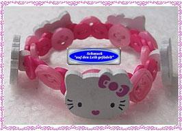 44) süßes Kinderarmband mit Hello Kitty-Holzknöpfen TS