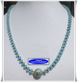 806. Quarzkette mit Muranoglas-Perle