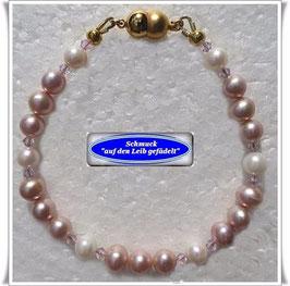 206) Süßwasser-Zuchtperlen-Armband
