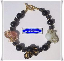 140) Armband mit Elefanten