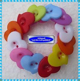 7) hübsches Herz-Knöpfe-Armband TS