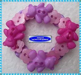 38) süßes Kinderarmband mit Teddy-Knöpfen TS