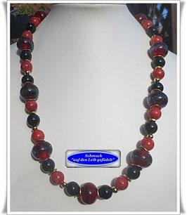 1574. außergewöhnliche Muranoglas-Perlen-Kette