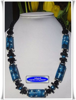 726. Millefiori-Trade Beads-Kette
