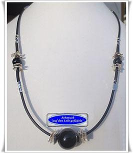296. Sardonyx-Pyrit-Kette