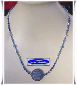 1165. Glasperlenkette mit Muranoglas-Perle